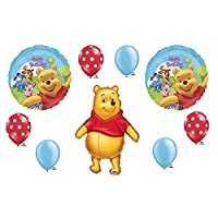loonballoon Winnie the Pooh 1st # 1 First Happy誕生日パーティー( 9 )マイラー&ラテックスバルーンセット