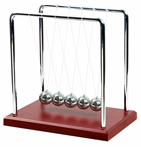 BOJIN クラシック インテリア ニュートン クレードル バランス ボール - 大 - レッド ウッド ベース