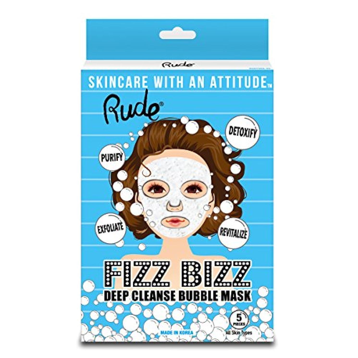 これらトレーダー気楽なRUDE Fizz Bizz Deep Cleanse Bubble Mask, Pack of 5 (並行輸入品)