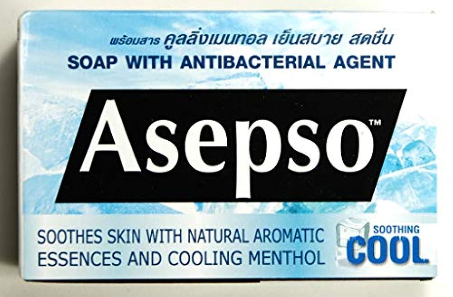 スプリット劇作家ピアノを弾くAsepso Antiseptic Soap Antibacterial Agent Cooling Soap 80g. x 2