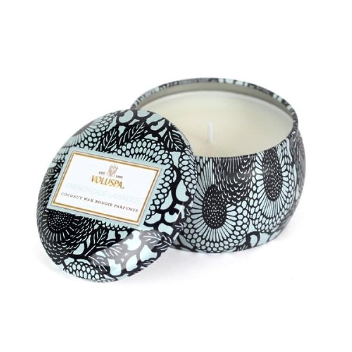 無実起業家発送Voluspa ボルスパ ジャポニカ ティンキャンドル S フレンチケード&ラベンダー JAPONICA Tin Candle FRENCH CADE LAVENDER
