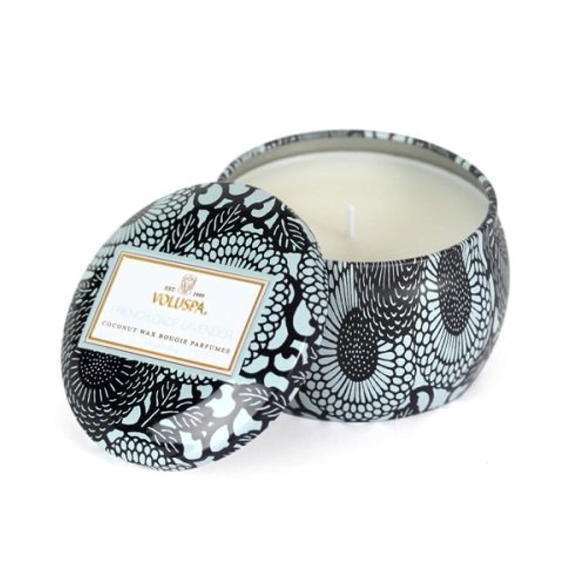 ゴージャス香ばしい喜んでVoluspa ボルスパ ジャポニカ ティンキャンドル S フレンチケード&ラベンダー JAPONICA Tin Candle FRENCH CADE LAVENDER