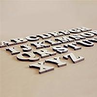PovKeever フォトアイテム 木製 パーティー 写真撮影 誕生日 飾り 道具 装飾 26個英字 10個数字 5個可愛い柄 自由に組み合わせ ガーランド 貼られる 両面テープ付き