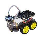 WeiKedz 電気ショック療法四輪ドライブ、UNO R3、リンクトラッキングモジュール、超音波センサ、リモート、とUNOプロジェクトスマートロボットカーキット。最新のインテリジェントと子供のための教育おもちゃの車