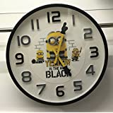 ミニオンズ ミニオン ウォールクロック 壁掛け時計カワイイミニオンの手が時計の針ミニオンBlack. プライズ