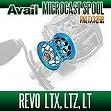 【Abu/アブ】 Revo・レボ LTX・LTZ・LT用 軽量浅溝スプール Avail Microcast Spool RVLTX32RR (溝深さ3.2mm) スカイブルー