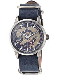 [ハンティングワールド]HUNTING WORLD 腕時計 スーブニール クォーツ ブルーレザー GMT 5気圧防水 HW027BL メンズ 【正規輸入品】