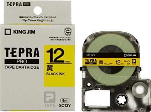 キングジム テープカートリッジ テプラPRO カラーラベル SC12Y イエロー