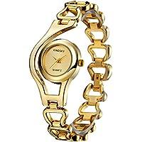 KINGSKY Ladies Fashion Small Face Gold Band Quartz Analog Wrist Watches 2176
