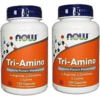 【2個セット】 [海外直送品]NOW Foods  トリアミノ 120粒 (アルギニン/オルニチン/リジン) Tri-Amino ...