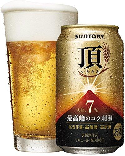 サントリー 頂 <いただき> アルコール7% 350ml×24本 【高麦芽量×高醗酵×高炭酸】