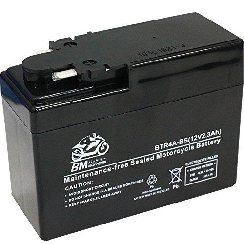 BM バイク用 バッテリー 液入り 充電済み BTR4A-BS ( YTR4A-BS / GTR4A-5 / FTR4A-BS 互換 )