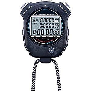 CITIZEN シチズン ストップウォッチ 防水 スプリットタイム/ペースカウント機能/ストローク測定機能付き 黒 058 LC058-A02