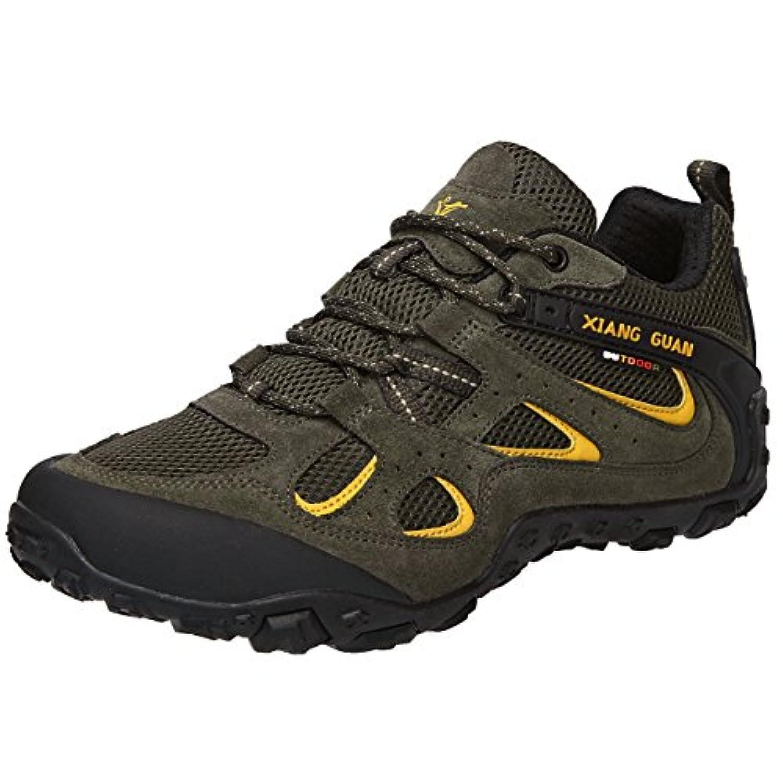 (シャングアン) XIANG GUAN レッキングシューズ メンズ 登山靴 大きいサイズ 通気性 耐磨耗 衝撃吸収 軽量 アウトドア スニーカー ハイキング シューズ