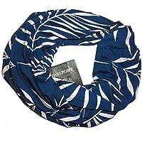 ユニセックス カップルプリント インフィニティスカーフ 隠しファスナーポケット付き 男女兼用 旅行スカーフ 63×20 inch マルチカラー MW45Y64