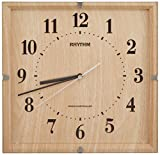 リズム時計 電波 掛け時計 アナログ ライブリーエミリ 連続秒針 インテリア モデル 茶 (薄茶木目仕上げ) RHYTHM 8MY502SR07