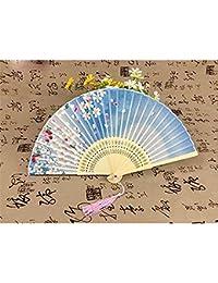 扇子 シルク 絹 ダンス扇子 折りたたみ式 扇子袋&箱付き 母の日 プレゼント 和風扇子 女性