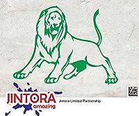 JINTORA ステッカー/カーステッカー - LION - 139mm x106mm - JDM/Die cut - 車/ウィンドウ/ラップトップ/ウィンドウ- グリーン