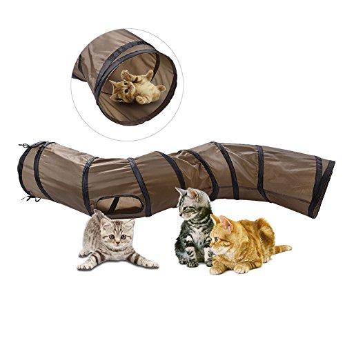 AWHAO ペット猫おもちゃ キャットトンネル ペットハウス...