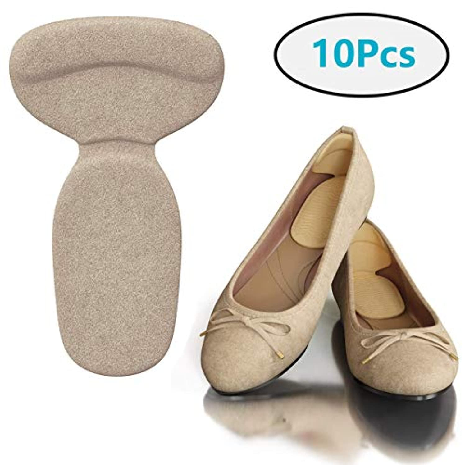 没頭する水平興奮する大きすぎる靴のヒールグリップ-10靴インサートパッド-足の痛みの軽減、足底筋膜炎、骨の痛み、アキレスの痛みのためのジェルヒールカップ