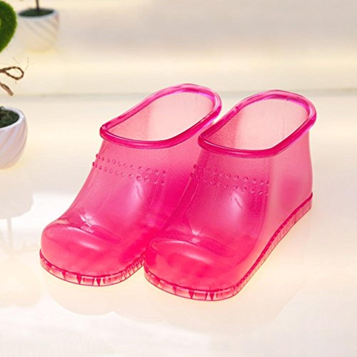 甘いアヒル植物学者快適 フットウェア男性の家庭のバスルームの足のバスの靴ホームフットバスのマッサージスリッパ女性の夏のクリエイティブスリッパ(2色オプション)(サイズはオプション) 増加した (色 : B, サイズ さいず : 45 yards or less)
