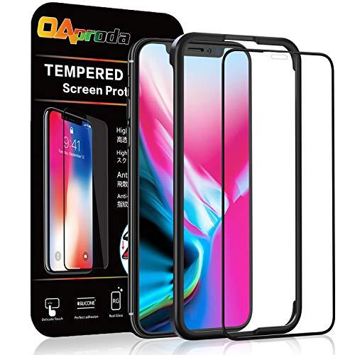 OAproda iPhone X/iPhone XS 全面保護フィルム アイフォン10 ガラスフィルム 液晶強化ガラス 全面フルカバ...