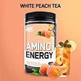 Essential Amino Energy by Optimum Nutrition - High Performing BCAA Recovery | Pre-Workout (30 Servings, White Peach Tea)