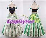 CosplayHut コスプレ衣装 映画 Frozen アナと雪の女王 プリンセス 戴冠式 Anna アナ ドレス、レディーズ、Mサイズ