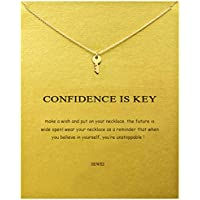 SEWEI Simple Key Clavicle Necklace Wish Necklace Graduation Gift (Key)