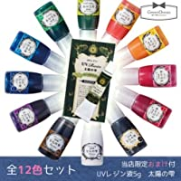 GreenOcean レジン着色剤 全12色セット UVレジン5gおまけ付 宝石の雫1 10ml