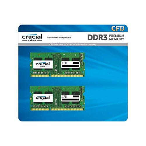 ノートPC用メモリ PC3L-12800(DDR3L-1600) 2GBx2枚 1.35V/1.5V両対応 無期限保証(Crucial by Micron) W3N1600CM-2G