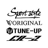 Sport style mix CR-Z カッティング ステッカー ブラック 黒
