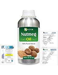 Nutmeg (Myristica fragrans) 100% Natural Pure Essential Oil 2000ml/67 fl.oz.