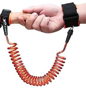 迷子防止ひも 迷子防止縄 幼児 子供 安全 ベルト 手つなぎ補助帯1歳から~12歳まで 腕掛け ソフト 2m 伸び縮可 2色