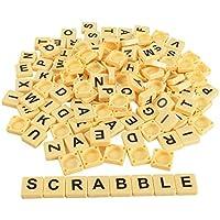 144ピースアルファベット文字タイルScrabble Crossword WordグリッドAnagramゲーム