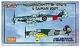 コラモデルス 1/72 メッサーシュミット Bf109G-6 & SAIMAN 202M イギリス軍鹵獲機 プラモデル KORPK72095