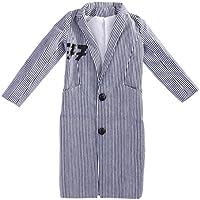 Fenteer 灰色 70センチ ファッション ストライプ オーバーコート ロングコート 1/3 SD BJD男性ドールに適用