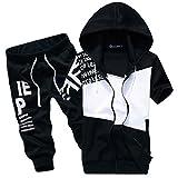 (ネッグ) NEG スウェット セットアップ 半袖 上下 セット パーカー 七分 丈 ズボン メンズ (L, 黒)