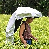 背負う傘 農作業かさ 背中に装着 両手が使える 便利グッズ 日差しカット UVカット 日よけ ガーデニング 釣り