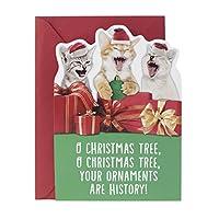 (Caroling Cats) - Hallmark Christmas Greeting Song Card (Carolling Cats)
