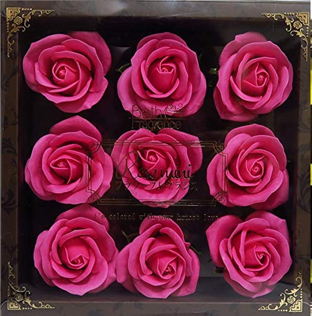 カーペット状撤回するバスフレグランス バスフラワー ミニローズフレグランス(L)ローズピンク お花の形の入浴剤