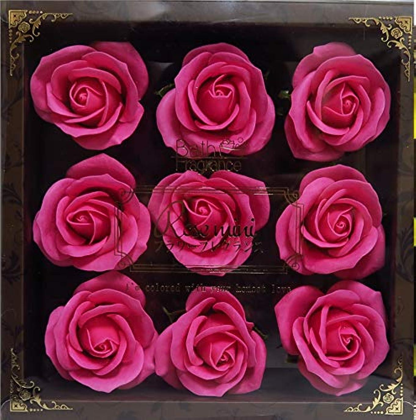 トレッド微視的テレックスバスフレグランス バスフラワー ミニローズフレグランス(L)ローズピンク お花の形の入浴剤