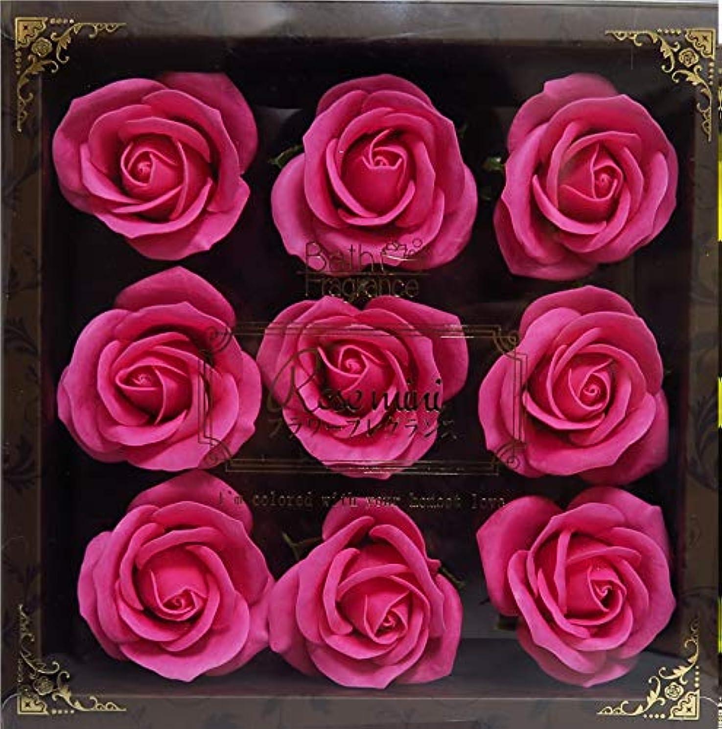 戦争通信網ダイバーバスフレグランス バスフラワー ミニローズフレグランス(L)ローズピンク お花の形の入浴剤