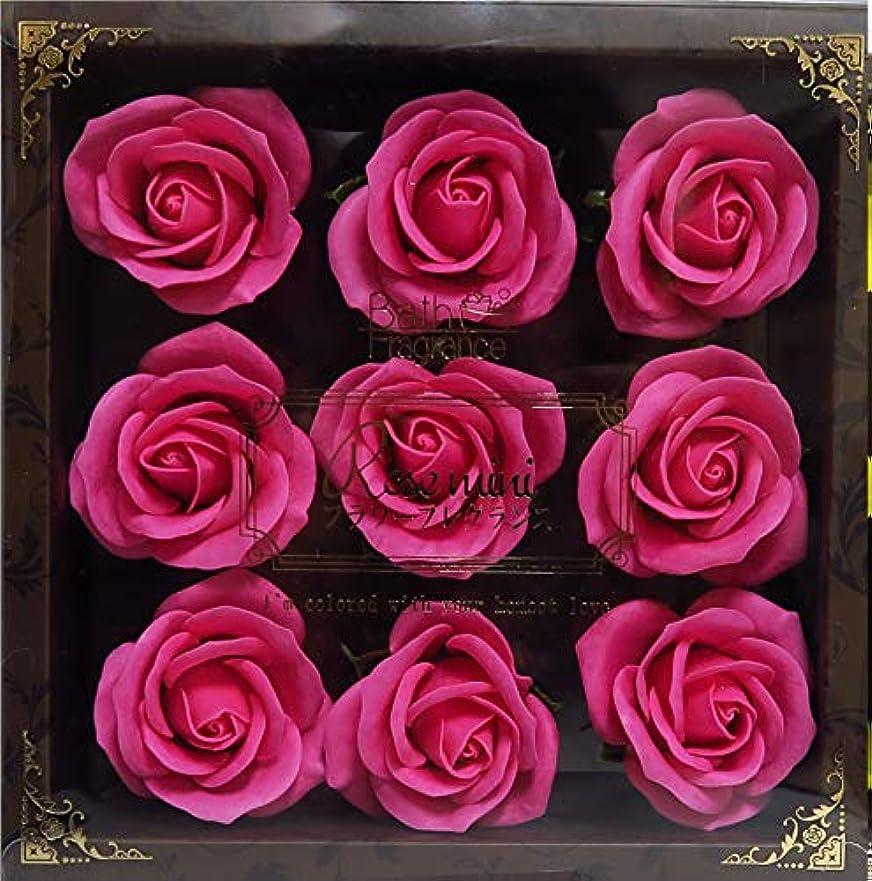 科学作家セクションバスフレグランス バスフラワー ミニローズフレグランス(L)ローズピンク お花の形の入浴剤