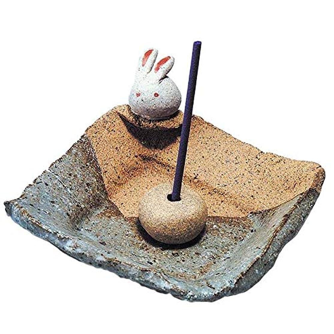 手造り 香皿 香立て/うさぎ 香皿/香り アロマ 癒やし リラックス インテリア プレゼント 贈り物
