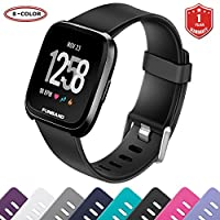 FunBand for Fitbit Versa/Fitbit Versa 2/Versa Lite Strap Bands,Classic Soft Silicone Sport Adjustable Replacement Accessory Bracelet Straps [1 Year Warranty] for Fitbit Versa/Fitbit Versa 2/Versa Lite