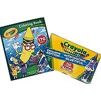 Crayola Bluetiful 124クレヨンパック、カラーリングブック
