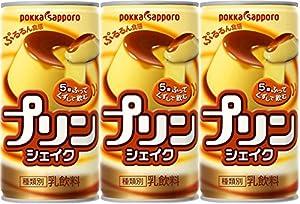 ポッカサッポロ プリンシェイク 190g 缶×3本