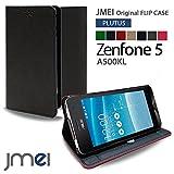 Zenfone5 A500KL カバー JMEIオリジナルフリップケース PLUTUS グレー ASUS ゼンフォン 5 エイスース simフリー スタンド機能付き スマホカバー スマホケース スリム スマートフォン