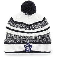 NHL huset OTS Cuff Knit Cap with Pom、1サイズ ホワイト